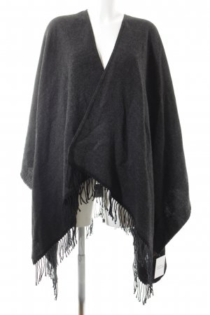 Das Cape Mädchen Capa gris-negro bloques de color look casual