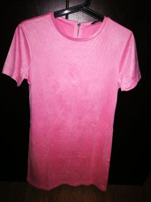 Zara Vestido a media pierna rosa
