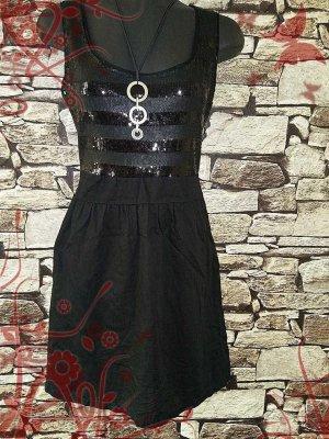 Promod Abito con paillettes nero Tessuto misto
