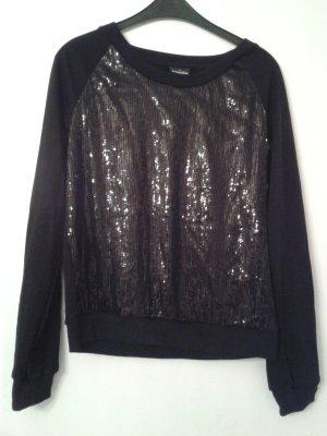 """das """"kleine Schwarze"""" als wunderschöner super weicher Pullover mit Pailletten"""