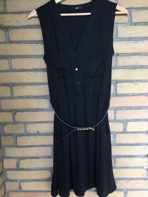 H&M Chiffon jurk zwart-goud