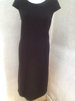 Armani Collezioni Vestido de manga corta negro tejido mezclado