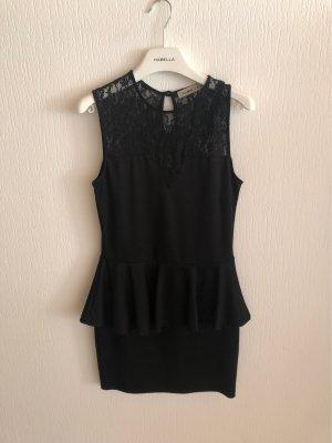 Vestido estilo flounce negro