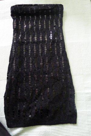 DAS KLEINE SCHWARZE ...must have,Pailetten Kleid,Gr.S,mit Seitenschlitzen
