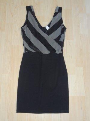 Vila Vestido de tubo negro-gris Poliéster