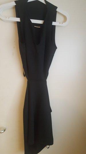 Primark Vestido cut out negro-color oro