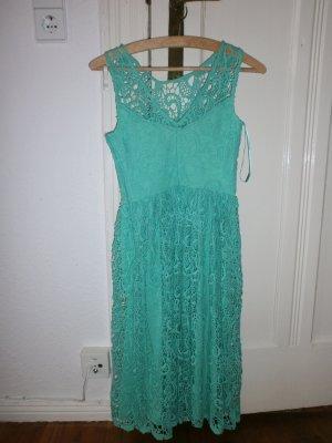 Naf naf Robe mi-longue turquoise polyester