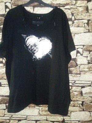 bpc selection Camicia fantasia nero-argento Cotone