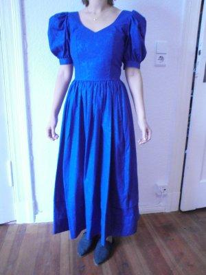Laura Ashley Petticoat Dress dark blue cotton