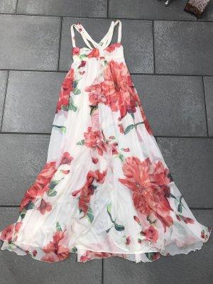 DAS Zara Woman Seidenkleid S 34/36 Blumen Maxikleid Blogger Seide   Hochzeit