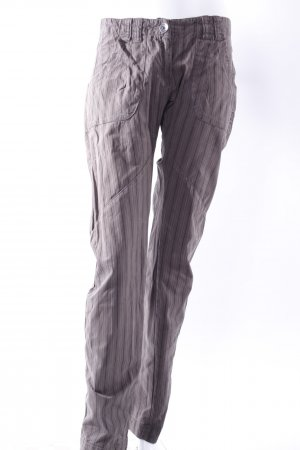 Datch Röhrenhose graubraun-gestreift
