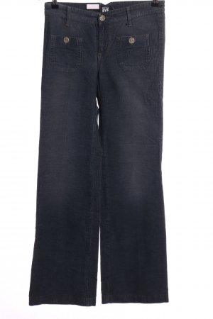 daughters of eve Pantalone a zampa d'elefante blu stile casual