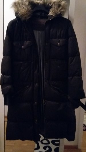 Basic Line Down Coat black
