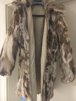 Daunen/Hasenfell Mantel sehr edel
