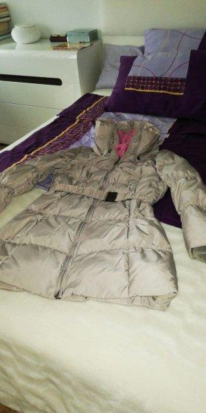 Abrigo de plumón multicolor