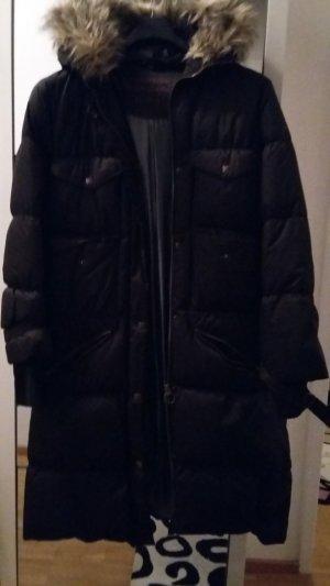 Basic Line Abrigo de plumón negro