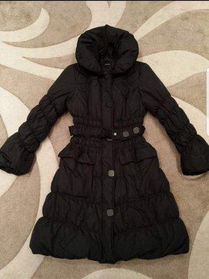 Daunen Mantel in schwarz 36-38 Große