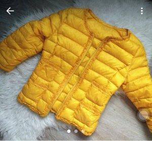 Daunenjacke 3/4  arm 36 S gelb