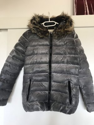 Down Jacket silver-colored-grey