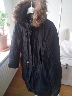 Daunenjacke Fleecedetails Fake Fur