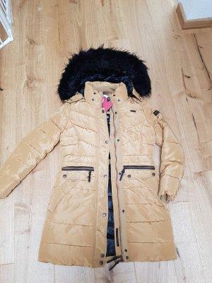 Made in Italy Abrigo de plumón marrón claro