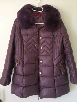 A-Z Down Jacket purple-violet viscose