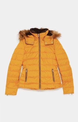 Zara Down Jacket brown-yellow