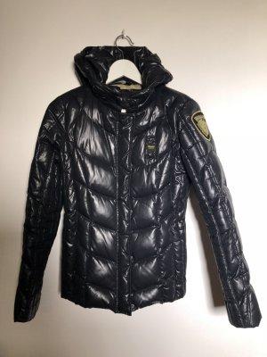 Blauer Donsjack zwart Polyamide