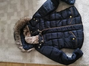 Daunenjacke Winterjacke H&M blau