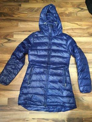Abrigo de plumón azul poliamida