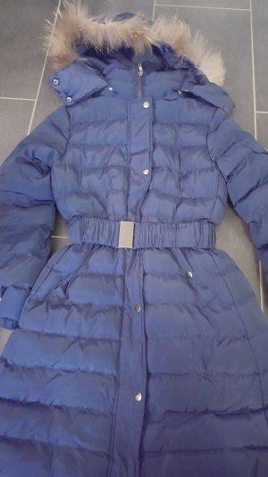 Abrigo de plumón azul oscuro