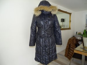 Blauer Down Coat dark blue polyamide