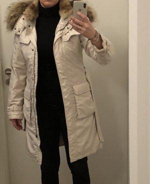 Manteau en duvet crème