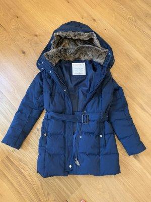 Esprit Manteau en duvet bleu foncé