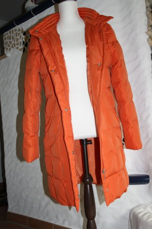 Heine Down Coat orange mixture fibre
