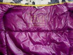 Daunensteppjacke im Leo-Look von Etage, federleicht