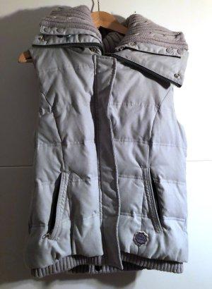 Down Vest light grey textile fiber