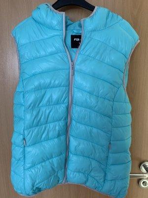 FB Sister Gilet en duvet bleu clair-turquoise coton