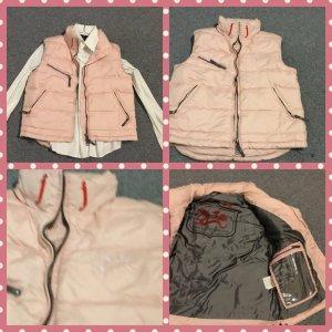 Down Vest multicolored textile fiber