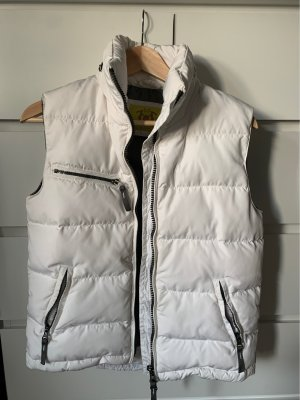Witty Knitters Down Vest white