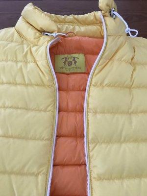 Witty Knitters Gilet en duvet jaune-orange clair