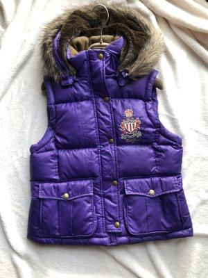 Polo Jeans Co. Ralph Lauren Smanicato trapuntato marrone-viola scuro