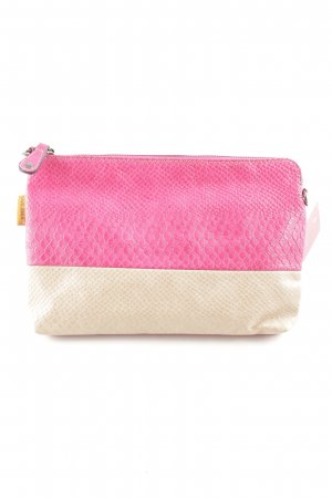 David Jones Clutch pink-cream animal pattern casual look