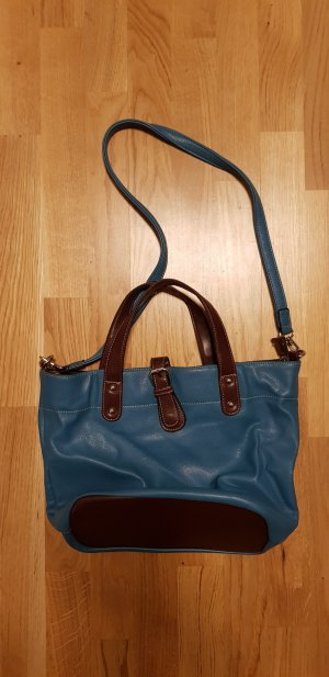 David Jones Handbag brown red-petrol