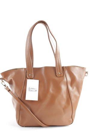 David Jones Handtasche braun-goldfarben klassischer Stil