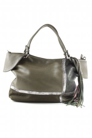 David Jones Carry Bag khaki-silver-colored extravagant style