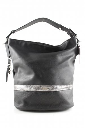 David Jones Carry Bag black-silver-colored striped pattern casual look