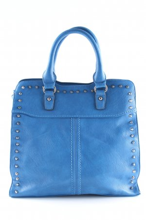 David Jones Bolso barrel azul neón look casual