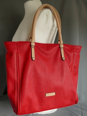 David Jones Carry Bag red-gold-colored imitation leather