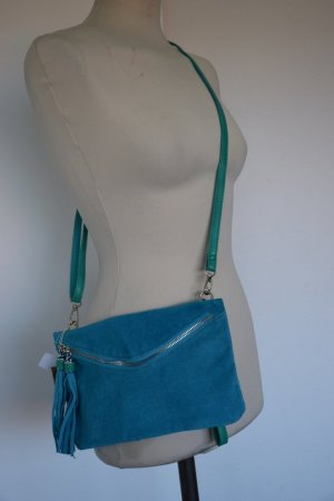 David Jones Clutch turquoise leather
